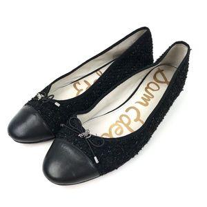 d60e26b779ae44 Sam Edelman Shoes - Sam Edelman Sarah Black Metallic Tweed Flat